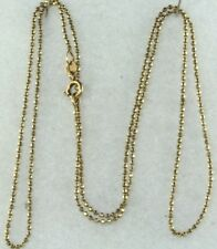 VTG 14K GOLD BALL CHAIN 24 INCH NECKLACE NECK 4.5 GR