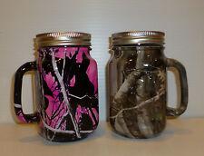 camo mason jar beer mug