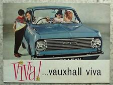 VAUXHALL VIVA Car Sales Brochure c1962 #1453
