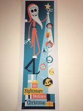 Nightmare Before Christmas Tim Burton Perillo LE Signed Poster Art Print Disney