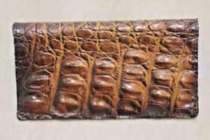Genuine Alligator, Crocodile Buaya Skin Leather Long Bifold Wallet X11
