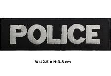 Police 12.5 x 3.8 cm Patch Embroidered Iron/ Sew-On Badge Officer Fancy Costume