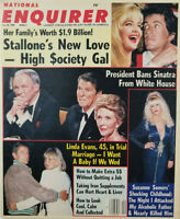 National Enquirer Jan 26 1988 Linda Evans - Suzanne Somers - Stallone New Love