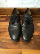 Mens Zara Black Leather Shoes Size 10 Vgc