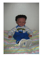 "Reborn Ethnic/Biracial 22"" Infant toddler Doll Baby Boy Amir"