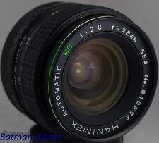 HANIMEX 28 mm F2.8 Objectif M42 pour Canon Nikon Pentax Sony Nex Panasonic Micro 4/3