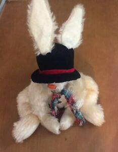 """Ganz Cottage Collectibles Bunny Rabbit Named Snow Hair 9"""""""