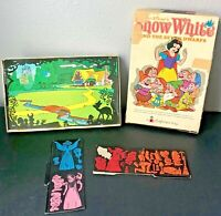 Disney Snow White And The Seven 7 Dwarfs Colorforms Cartoon Kit 1962