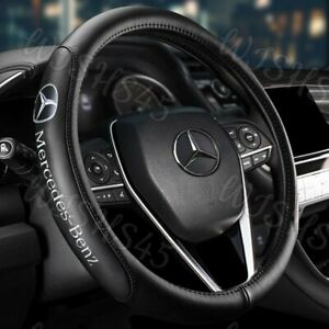 "15"" Diameter Car Steering Wheel Cover Genuine Leather For Mercedes-Benz AMG 2020"