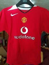manchester united year 2002-04 vodaphone Kids football shirt size Small