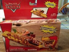 Disney Cars TRACTOR TIPPIN'  PLAY & RACE LAUNCHER CONNECT TO STORY  Christmas