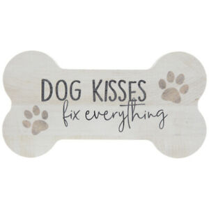 Dog Kisses Fix Everything Wood Decor. Cute decorative accent