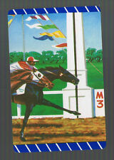Playing Swap Cards 1 VINT  U.S.  HORSE RACING  1ST PAST THE POST  MINT  W458