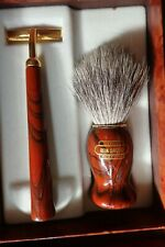 Vintage Gent's Razor  & Brush(Razor Handle for Disposables) - Bristles(Badger)