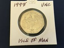 More details for isle of man. 1998  50p coin. unc. christmas pudding.