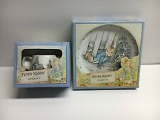 Wedgewood Peter Rabbit 20 cm Plate and Two Handle Mug New in Box