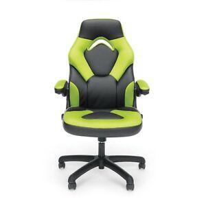 OFM Adjustable & Ergonomic Swivel Gaming Chair, Green