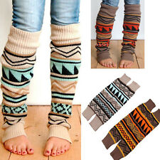 Fashion Women Winter Long Boot Socks High Knee Legging Knitted Crochet Tackle#