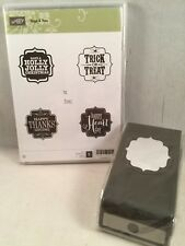 TAGS 4 YOU stamp Set & BRACKET LABEL PUNCH Stampin Up Christmas Halloween