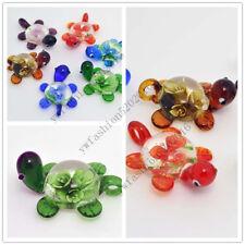 Wholesale LOts 6Pcs Animal Turtle Flower Murano Glass Pendants Fit Necklace FREE