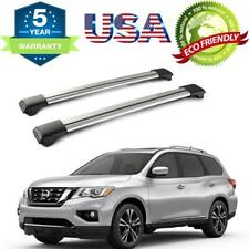 For 2013-2019 Nissan Pathfinder 4DR Top Roof Rack Cross Bars Set Carrier Silver