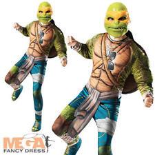 Michelangelo Mens Fancy Dress Mutant Ninja Turtles Superhero Adults TMNT Costume