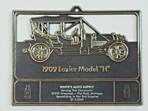 Vintage Advertising Calendar Topper Plastic White's Auto Supply 1909 Lozier MI