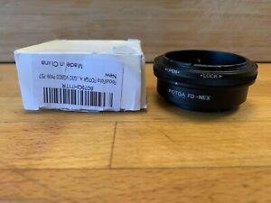 FOTGA Lens Adapter Ring for Canon FD -NEX Sony E Mount