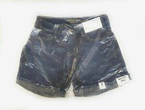Arizona Blue Jean Shorts Womens Size 3 Dark High Tide MiDi Denim 4.5 Inseam