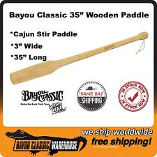 "Wooden Stir Paddle 35"" Almost 3 Feet Crawfish Seafood Boils Batch Cooking"