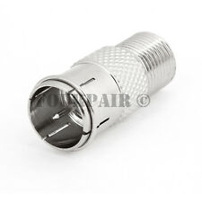 F Type Quick Plug RF Coax Coaxial Cable Adapter Connector - Male to Female M/F