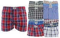 3-Pack S M L XL Premium Cotton Men's Underwear Assorted PLAID BOXER SHORTS Lot