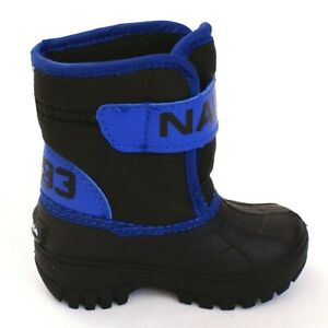 Nautica Blue & Black Albemarle Boots Infant Boy's Size 5 NEW