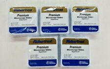 5 Pack Fisher Finest 12 544 7 Premium Microscope Slides Superfrost 25x75x1mm