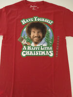 Bob Ross Artist Have Yourself a Happy Little Christmas Joy Of Painting T-Shirt