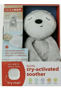 Skip Hop Baby Cry Activated Soother Sloth Soft Toy with Voice Recorder NEW