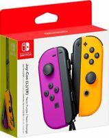 NEW Nintendo Switch Joycon Wireless Controller Official Neon Purple Orange