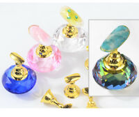 Crystal Salon Magnetic Manicure Nail Art Display Practice Stand False Tip Holder