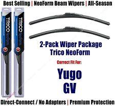 2pk Super-Premium NeoForm Wipers fit 1986-1989 Yugo GV - 16160x2