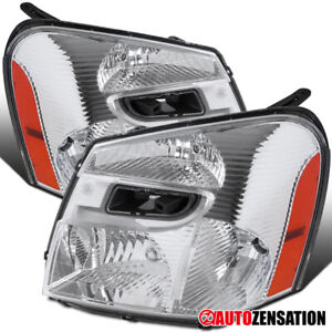 For 2005-2009 Chevy Equinox Clear Lens Headlights Lamps Replacement Left+Right