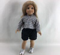 "American Girl Doll Pleasant Co. 18"" Dark Blonde Hair Blue Eyes 2008 PA-11392-X02"