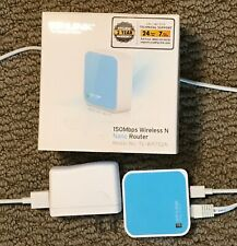TP-Link 150Mbps Wireless N Nano Router Model TL-WR702N used with all cables etc.