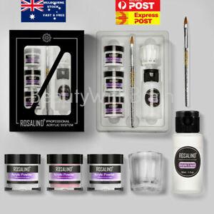 ROSALIND Professional Acrylic Liquid Nail Art Carving Acrylic Dipping Powder Kit