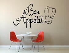 Bon appétit Cuisine Mur Art Autocollant Vinyle Citation Autocollant Transfert