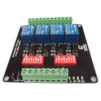 4-Channel Isolation 3/5/12/24V Relay Board Module Optocoupler High/Low Level