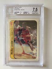 MICHAEL JORDAN 1986-87 FLEER BASKETBALL #8 ROOKIE STICKER BGS 7.5