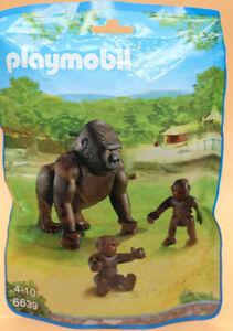 Playmobil 6639 ★ Gorilla mit Babys ★ Zoo Afrika Savanne Wild life - NEU