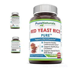 Pure Naturals Red Yeast Rice Dietary Supplement 1200 Mg 240 Count