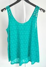 TOP AMPLE et FLUIDE TURQUOISE H&M taille S