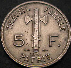 FRANCE 5 Francs 1941 - VF/XF - 2881 ¤